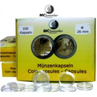 Münzkapseln 26mm für 2 Euro Münzen 1000 Stück