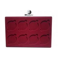Münztableau für 8 Münzen - 67mm Ø (P) + Schutzdeckel