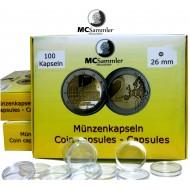 Münzkapseln 26mm für 2 Euro Münzen