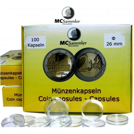 Münzkapseln 26mm für 2 Euro